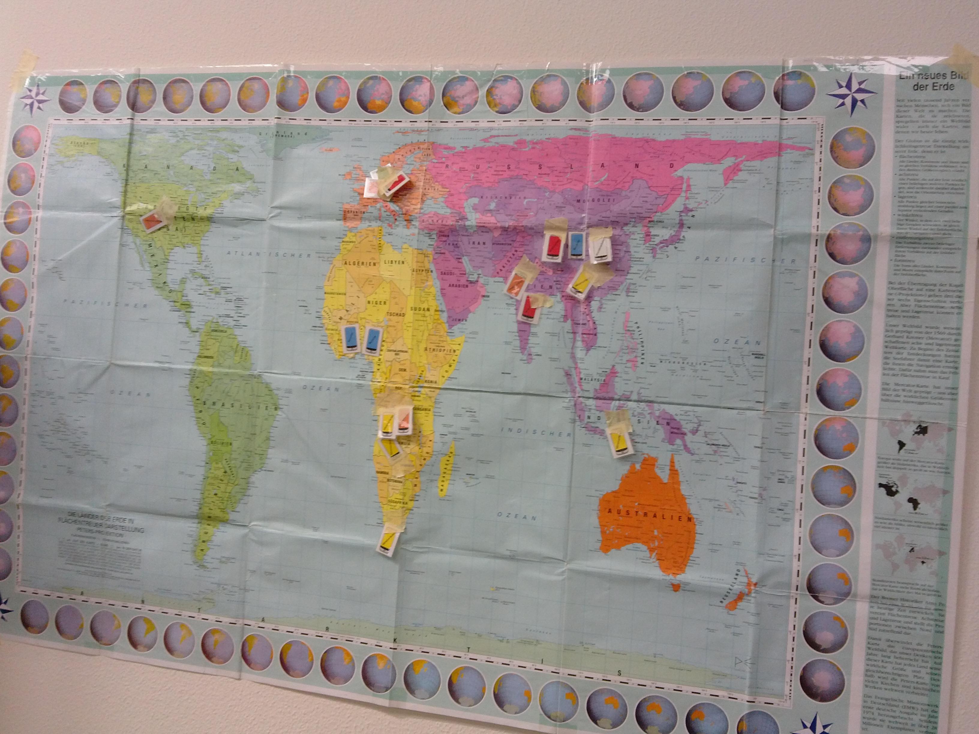 Foto von Weltkarte