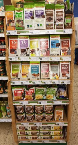 Ethiquable Produkte im Supermarkt. Foto: © Aktiv & Irma