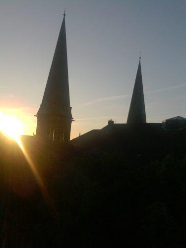 Sonnenaufgang über der Lambertikirche. Foto: © J. Mumme