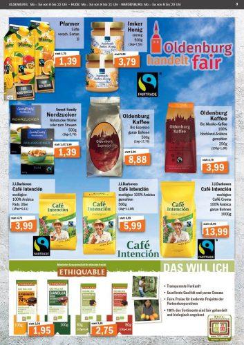 Flugblattseite zum Fairen Handel. Flugblattseite: © aktiv & irma