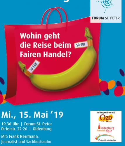 """Flyer """"Wohin geht die Reise beim Fairen Handel?"""". Flyer: © Veranstalter"""