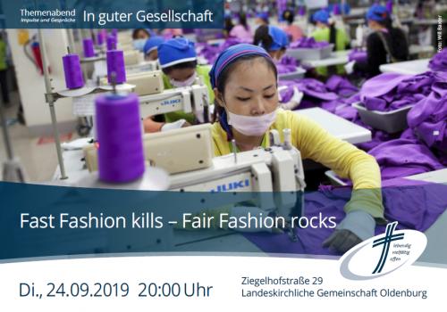Flyer zum Vortrag Fast Fashion kills. Flyer: © Veranstalter