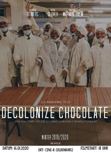 Menschen bei der Schokoladenproduktion