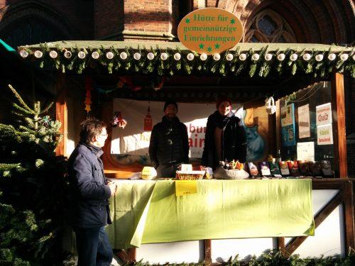 Hütte von Oldenburg handelt fair Lambertimarkt. Foto: © J. Mumme