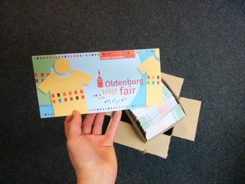 """Flyer """"Oldenburg trägt fair"""", Foto: © J. Mumme"""