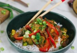 Bild von einem rotem Thai Curry