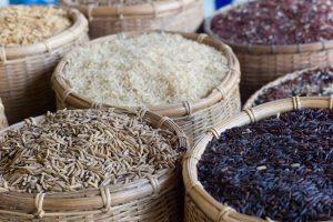 Verschiedene Reissorten